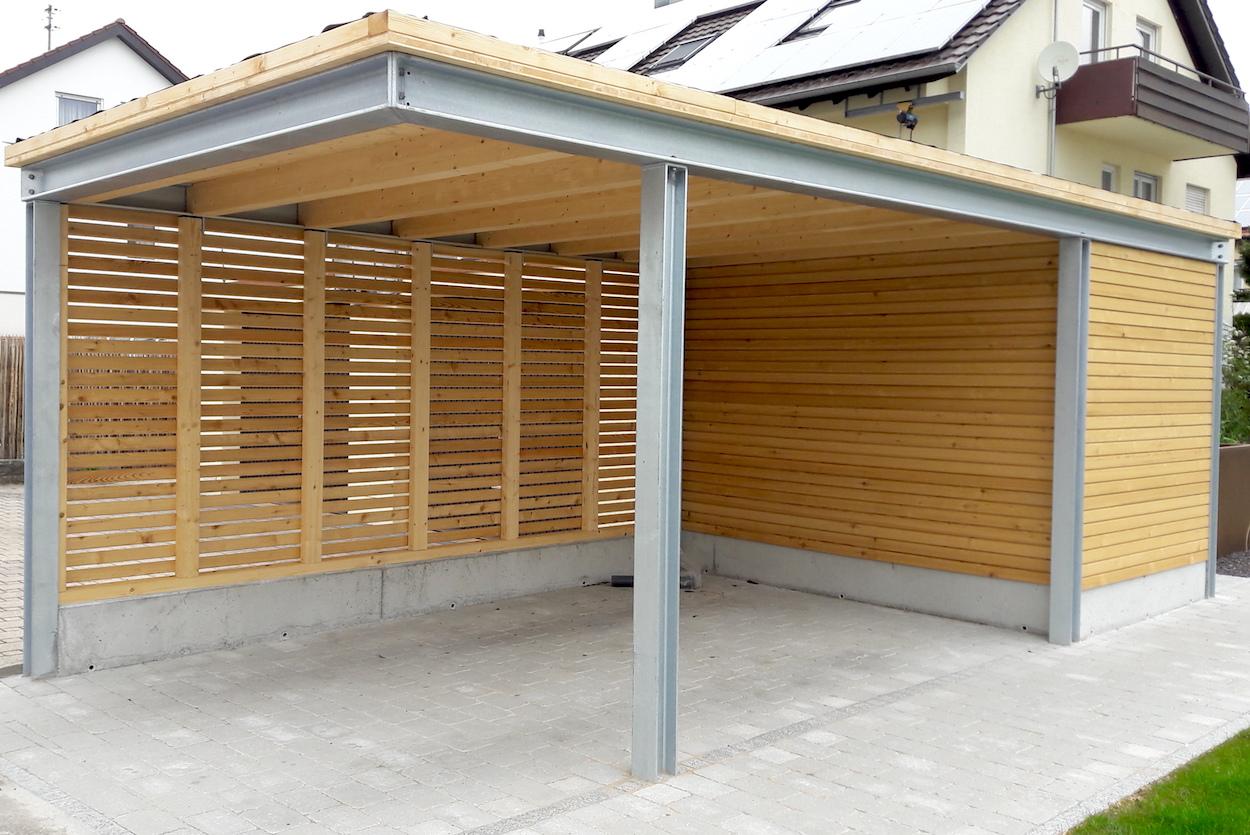 Individueller Carport der Metallbau Schlosserei T. Heyny