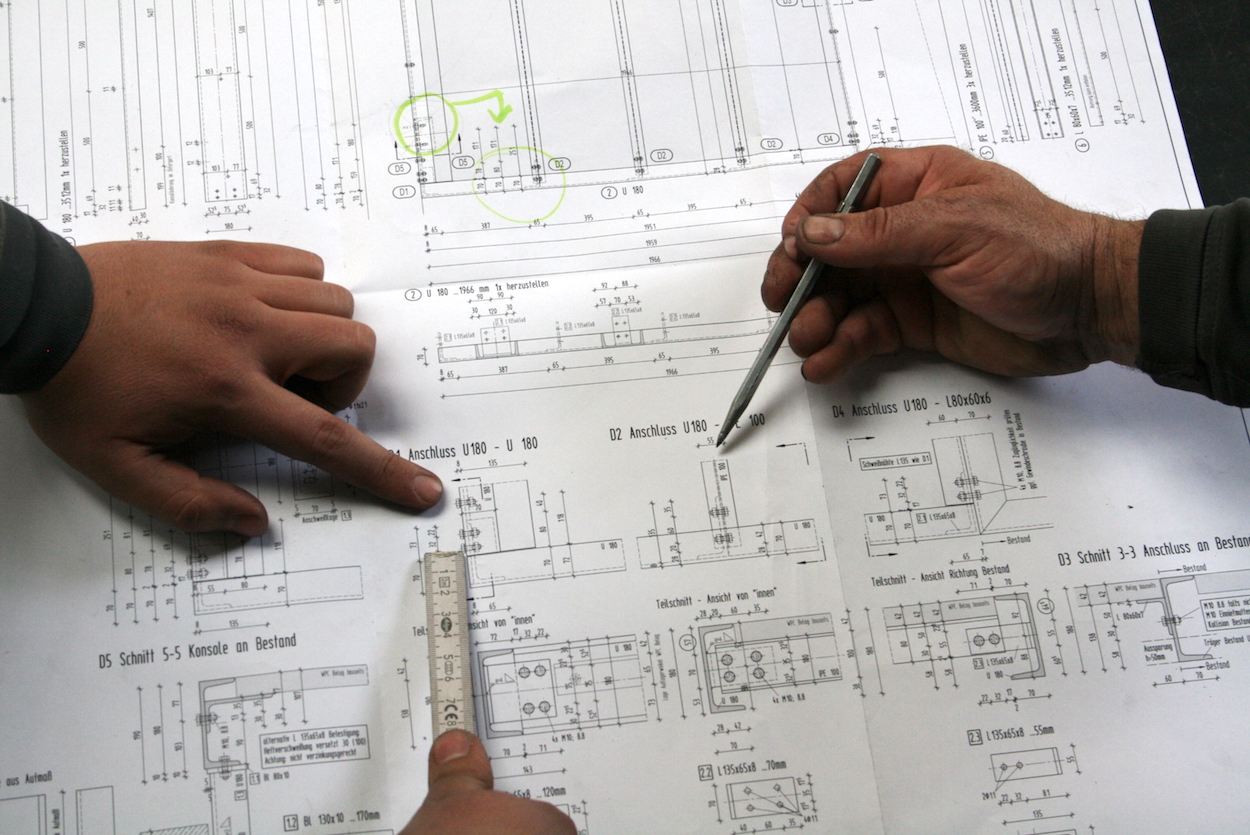 Planung Metallbearbeitung bei Metallbau Schlosserei T. Heyny