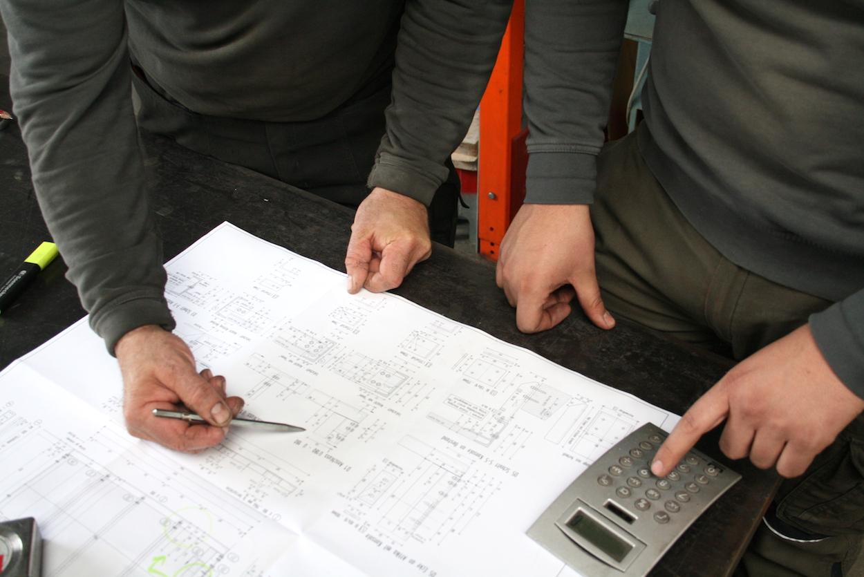 Planung Metallbauarbeiten der Metallbau Schlosserei T. Heyny